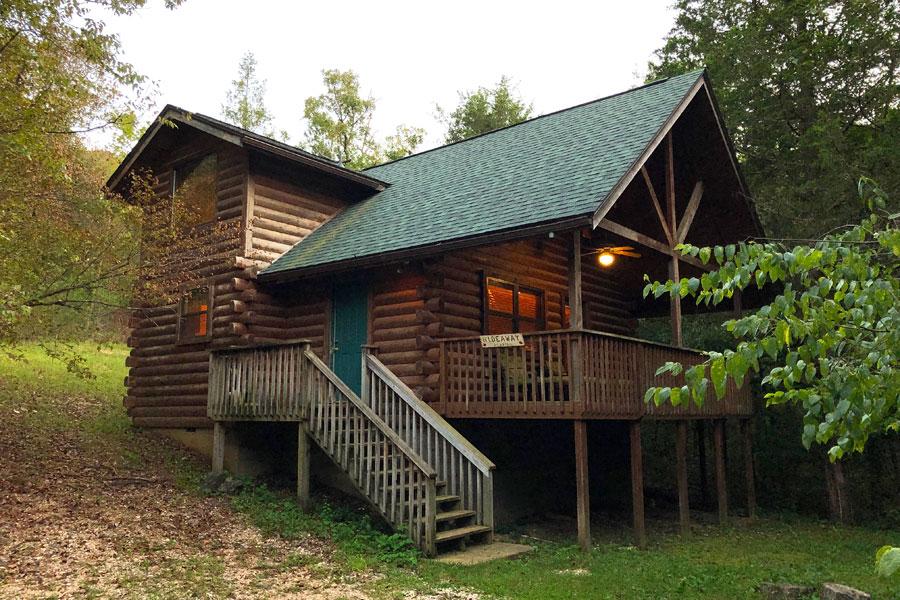 hideaway cabin exterior