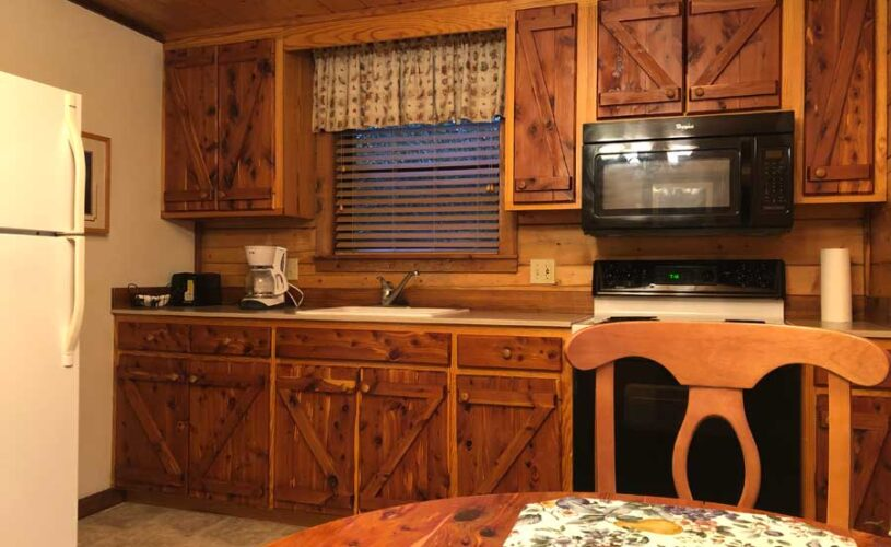 hideaway cabin kitchen