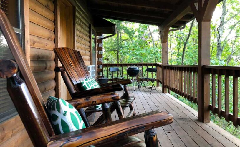 romantic eureka springs cabin deck with a view