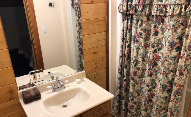shady oak cabin bathroom
