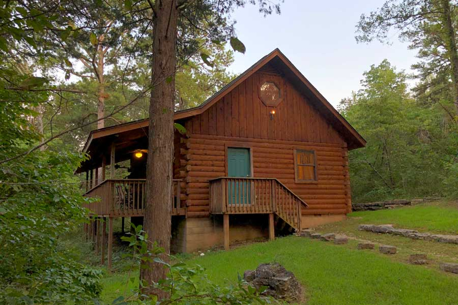whispering pines cabin exterior